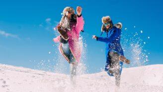 Brillentrends für Après-Ski im Schnee