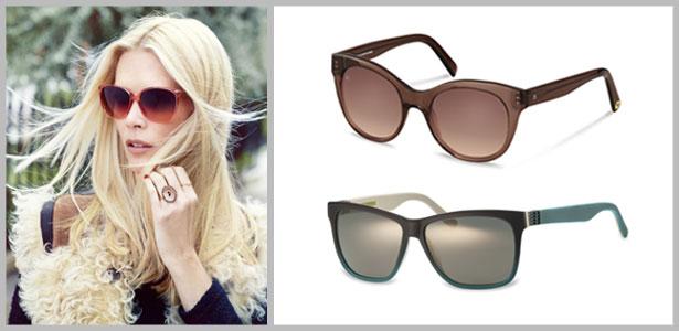 Sonnenbrillen schützen die Augen auch in der kalten Jahreszeit zuverlässig. Bilder: Rodenstock, rocco by Rodenstock, OWP Brillen (v. l.)