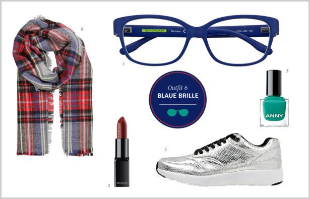 Brillen-Knigge / Farb-Knigge – Blaue Brille – Outfit 6