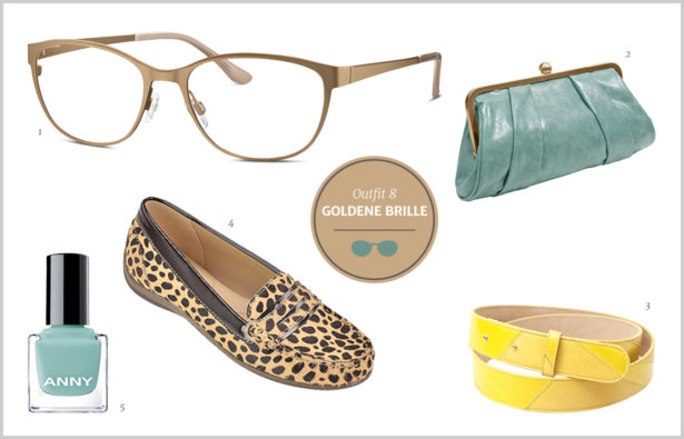 Brillen-Knigge / Farb-Knigge – Goldene Brille / Gold-Brille – Outfit 8