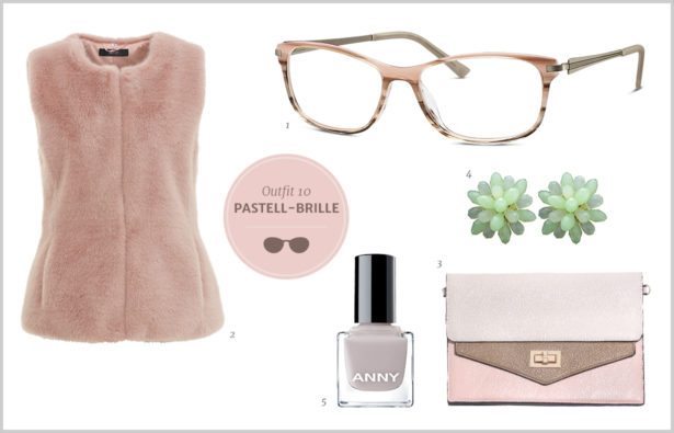 Brillen-Knigge / Farb-Knigge – Pastellfarbene Brille – Outfit 10