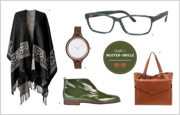 Brillen-Knigge – gemusterte Brille – Outfit 2
