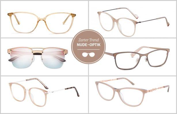 Brillen in Nude, Nude Optik 2017, Helle Brillen