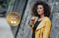 Metallfassungen in Gold, Silber, Kupfer – Brillen als modische Glanzpunkte