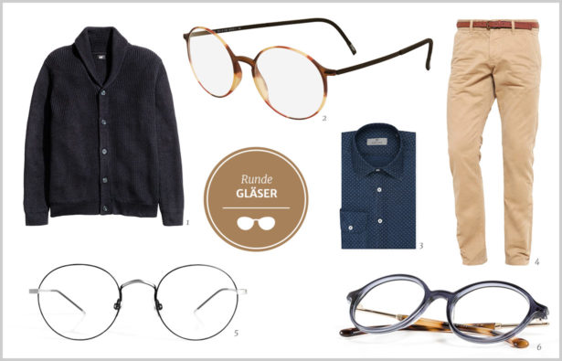 Brillen Männer runde Fassung