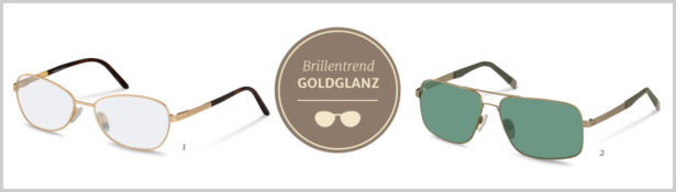 Brillentrends 2016 Goldglanz Brillen