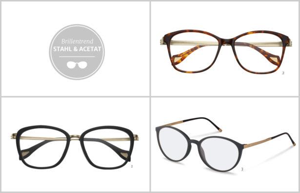 Brillentrends 2016 Stahl und Acetat Brillen