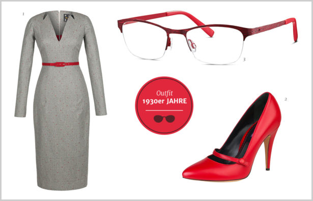 Browline-Brille – Outfit 30er Jahre