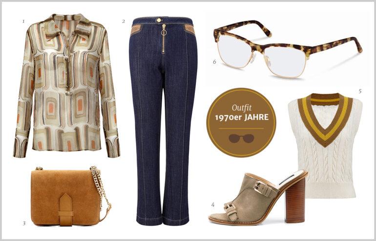 Browline-Brille – 70er Jahre