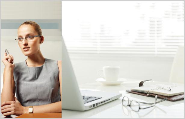 Business Outfit Bildschirmbrille