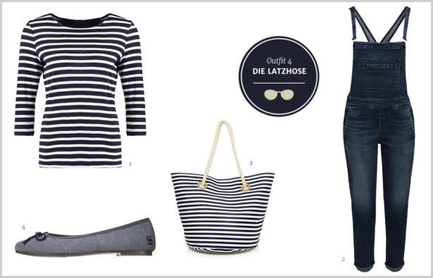 Denim-Look Outfit – Die Latzhose