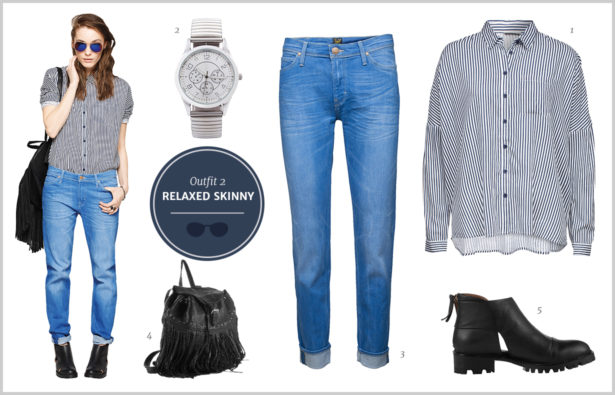 Denim-Look Outfit – Die Relaxed Skinny
