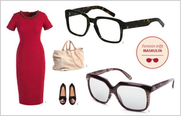 Der gekonnte Stilbruch Feminim Maskulin Brille