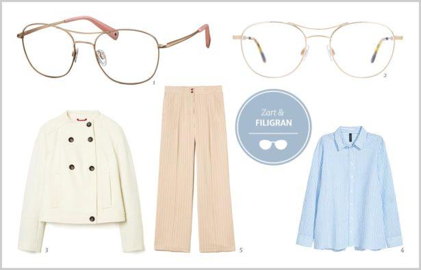 Doppelstegbrille Zarte Brillen mit Doppelsteg