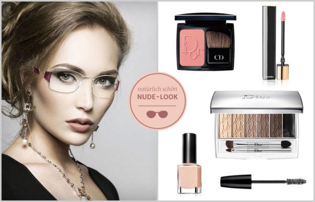 Betonen Sie Ihre Schönheit im dezenten Nude-Look. Bilder: NEOSTYLE, Dior, Max Factor, Chanel, Manhattan