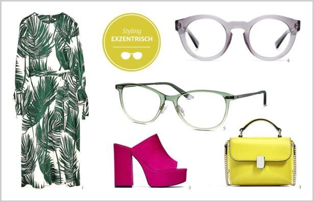Acetat Brillen und ein exzentrisches Outfit | Acetat Brillen und Mode für Frauen | Trabsparente Acetat Brillen für Frauen