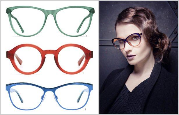 Extravagante Brillen-Kräftige Farben