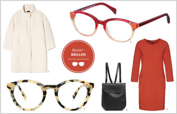 Extravagante Brillen Muster-Brillen-Look