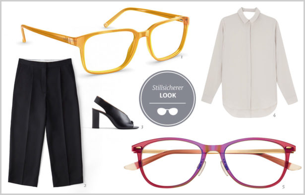 Extravagante Brillen-stilsicherer Look