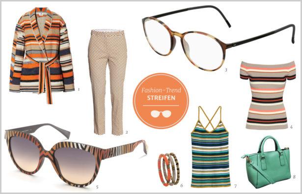Brillen-Trends Frühjahr 2016 Streifen