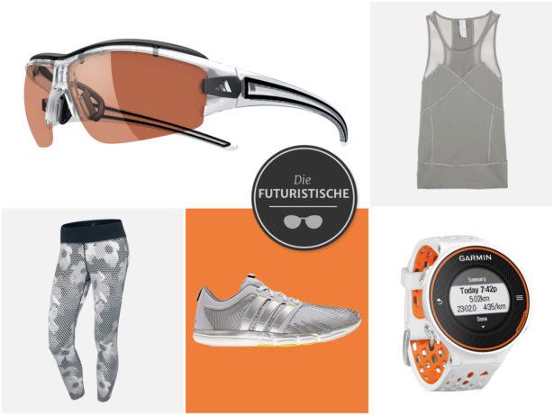Welche Brille passt zum futuristischen Sport-Outfit? Collage