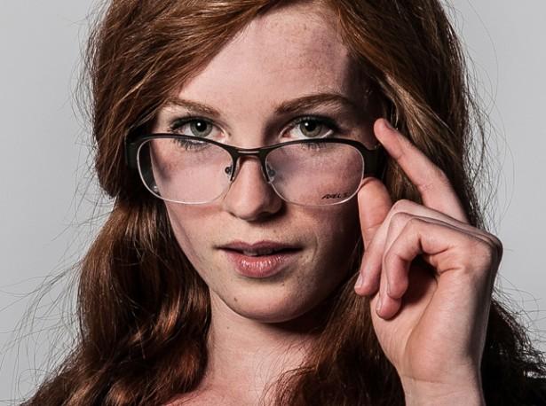 Gesicht-Nase-Brille