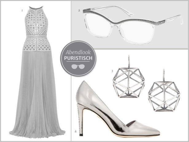 Glamour pur. Transparente Fassungen sind modern und passen zu einem puristischen Look. Bilder: 1 Mendel, 2 Eschenbach, 3 Bottega Veneta, 4 Alice + Olivia