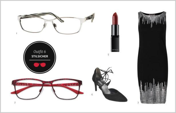 Stilsicher: Schwarz, Silber und Rot