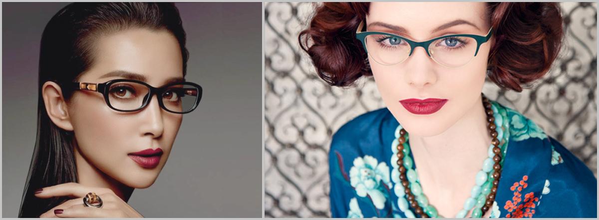 Haarfarbe: schwarz und rot: Damenbrillen