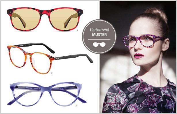 Brillen mit Muster Herbsttrend 2017/18