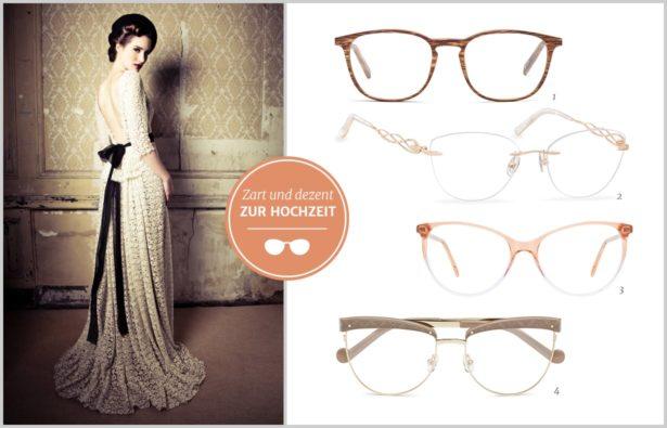 Heiraten mit Brille Aufaelligkeit der Brille