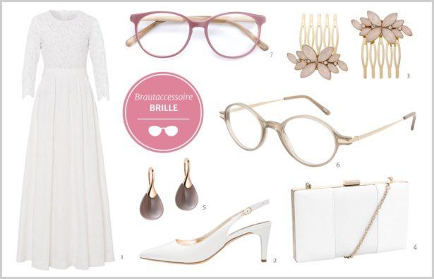 Heiraten mit Brille Braut-Accessoire Brille