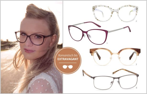 Heiraten mit Brille Stil der Brille
