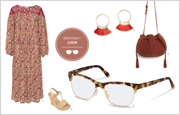 Hornbrille Bohemian-Look