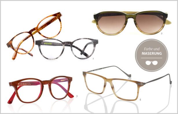 Hornbrille Farbe und Maserung