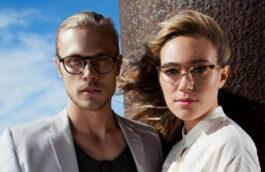 Mann und Frau mit Hornbrille