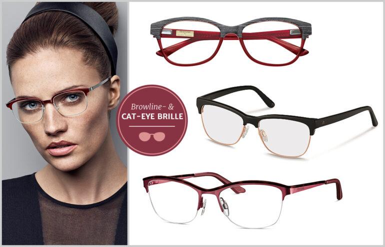 Klassischer Frauentyp - Browline und Cat-eye Brille