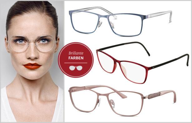 Brille für den klassischen Frauentyp