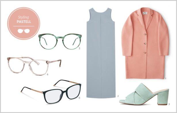 Modetrends Sommer 2017 und Brille für Frauen/ Modetrends 2017 Styling Zarte Pastelltoene für Frauen/Modetrends Sommer 2017 Styling Zarte Pastelltöne und Brille