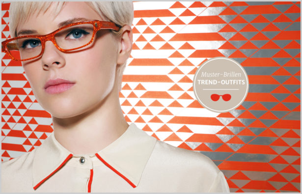 Muster-Brillen – Muster-Trend – Model mit Brille