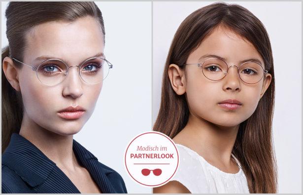 Partnerlook mit Brille von Mutter Tochter