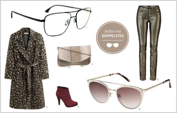 Trendbrillen für Partynächte Doppelsteg-Brillen