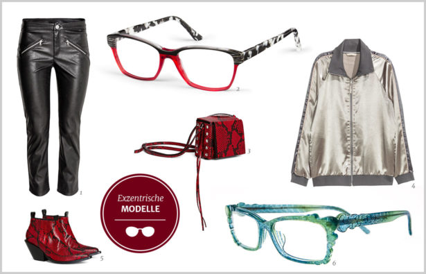 Trendbrillen für Partynächte exzentrische Modelle