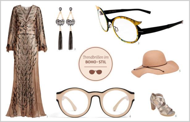 Trendbrillen für Partynächte Boho-Stil