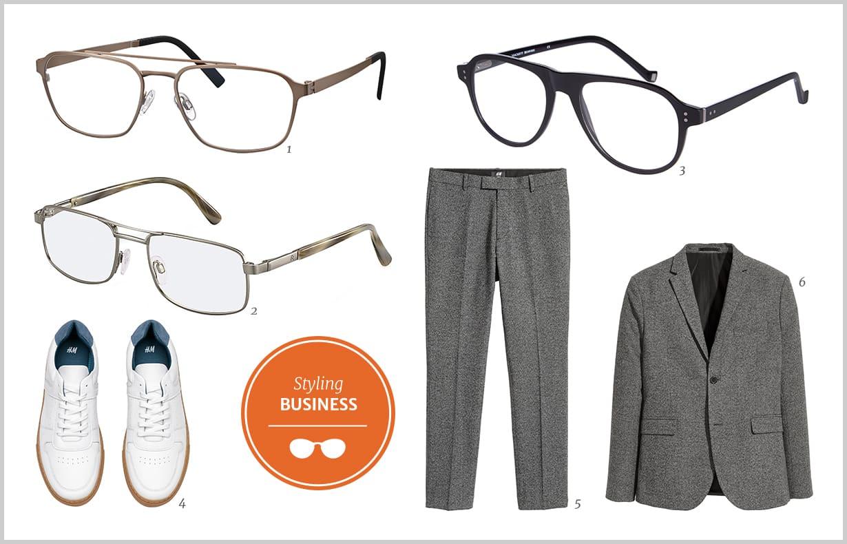 Pilotenbrille mit Korrektionsgläsern   Brillenstyling
