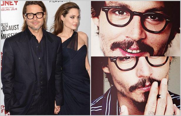 Promis und ihre Brillen – Brad Pitt, Johnny Depp
