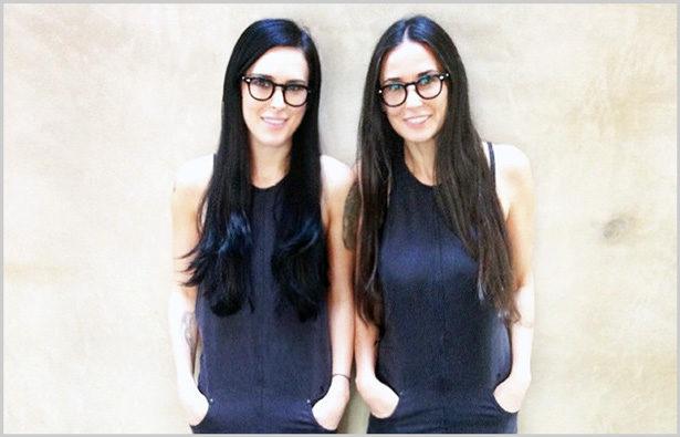 Promis und ihre Brillen Demi Moore und Rumor Willis