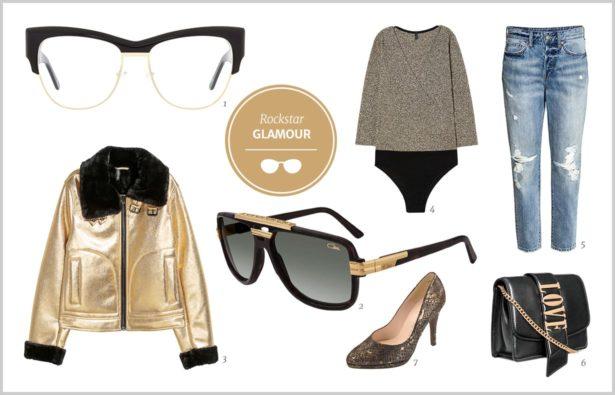 Brillen im Rockstar-Styling Glamour, Rockstar-Styling für Frauen
