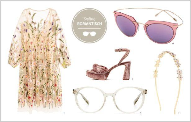 Acetatbrille Romantik-Outfit für Frauen