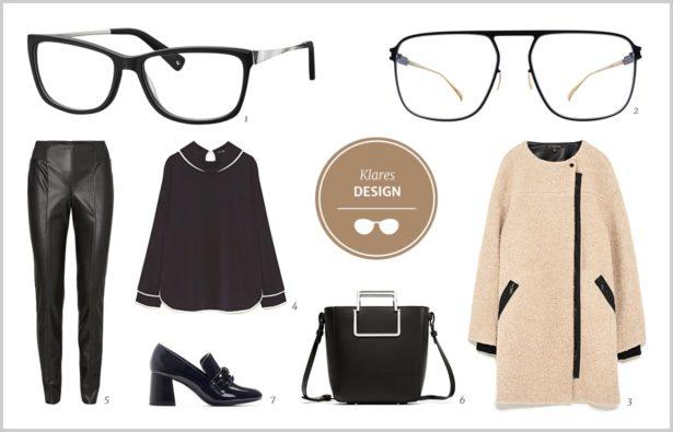 Schlichte Brillen und Styling Outfit androgyn